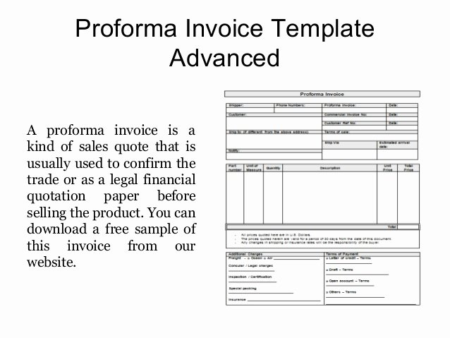 Free Proforma Invoice Template Best Of Proforma Invoice Templates Free Samples