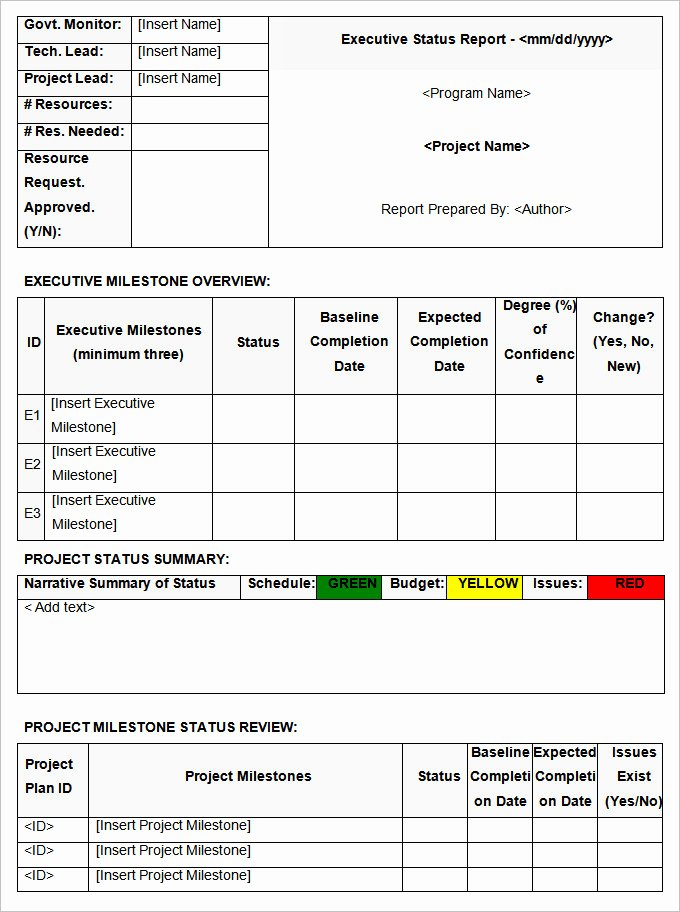 Free Project Status Report Template Fresh Status Report Templates 7 Free Word Documents Download