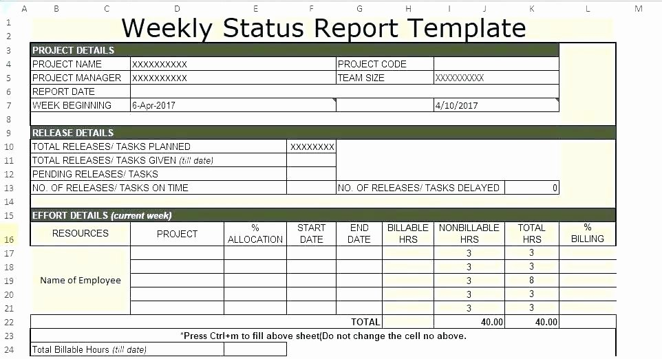 Free Project Status Report Template Unique Multiple Project Status Report Template Excel Free