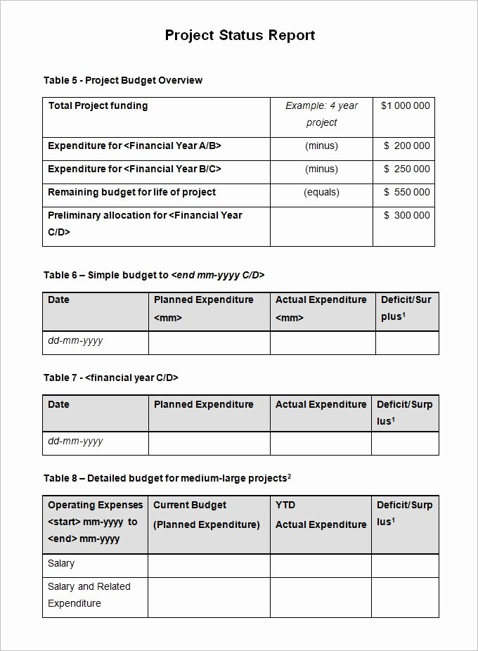 Free Project Status Report Template Unique Project Status Report format Excel Best Photos Of