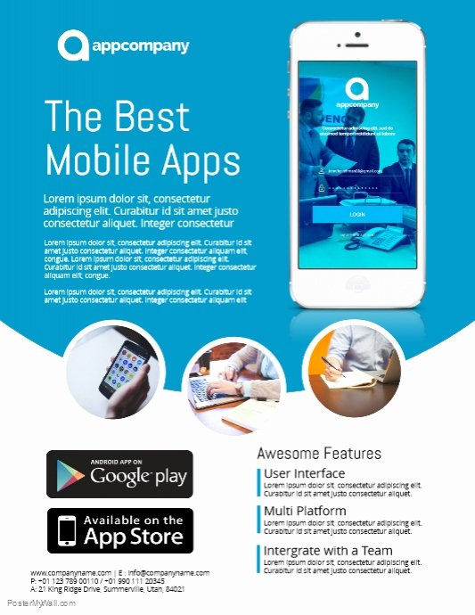 Free Promotional Flyers Template Awesome App Promo Flyer Template