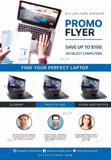 Free Promotional Flyers Template Beautiful Promo Psd Flyer Template Styleflyers