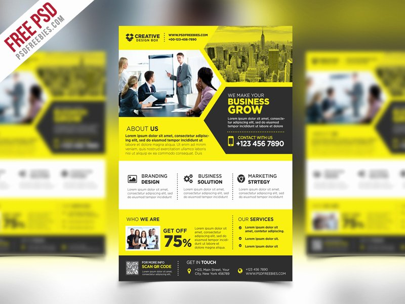 Free Promotional Flyers Template Best Of Free Psd Corporate Business Promotional Flyer Psd