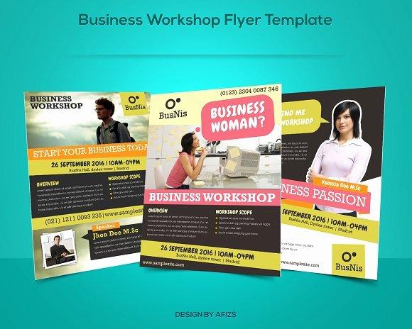 Free Promotional Flyers Template Elegant Business Workshop Promotion Flyer Flyer Templates