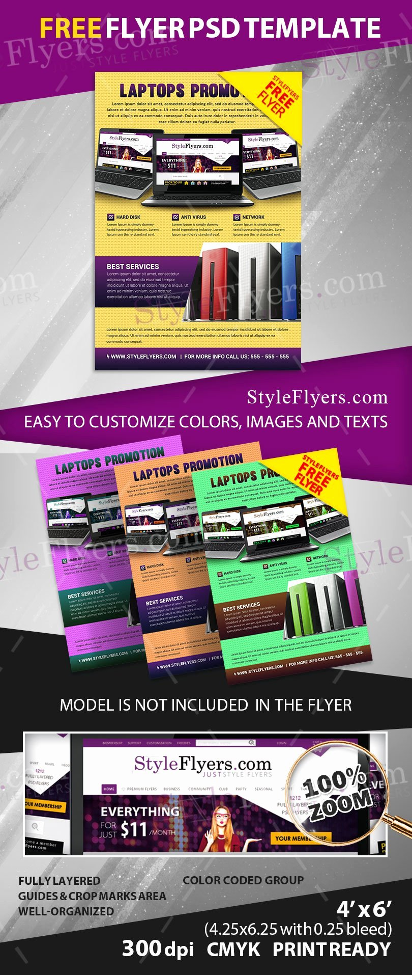Free Promotional Flyers Template Elegant Free Promo Flyer Psd Flyer Template Free Download