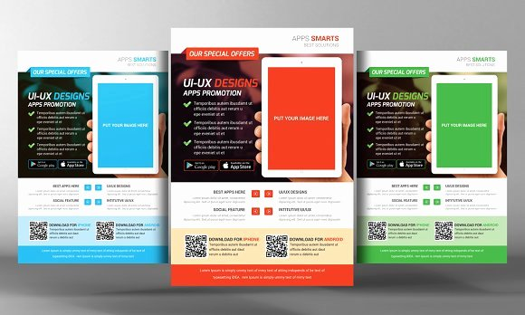 Free Promotional Flyers Template Elegant Mobile Apps Promotion Flyer Template Flyer Templates