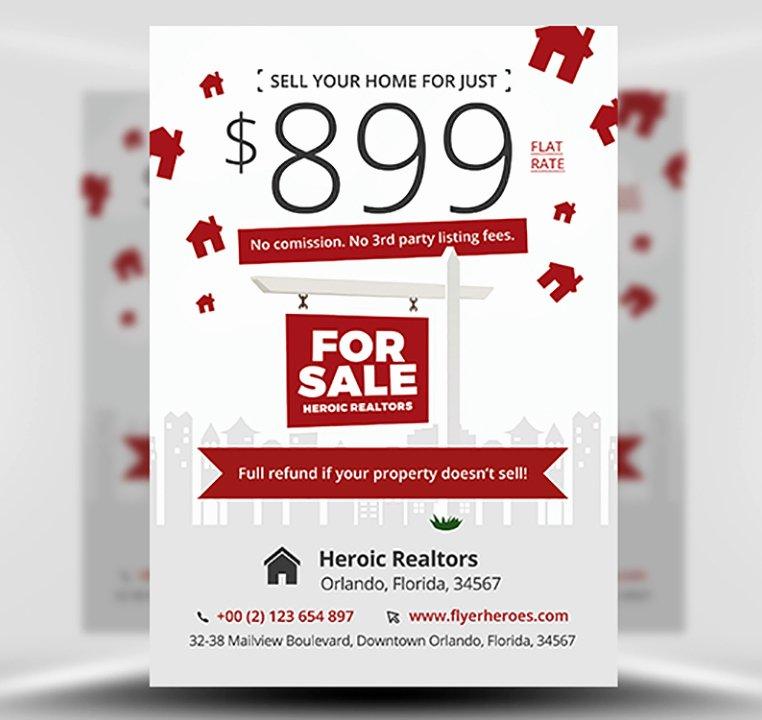 Free Promotional Flyers Template Elegant Realtor Promotion Flyer Template Flyerheroes