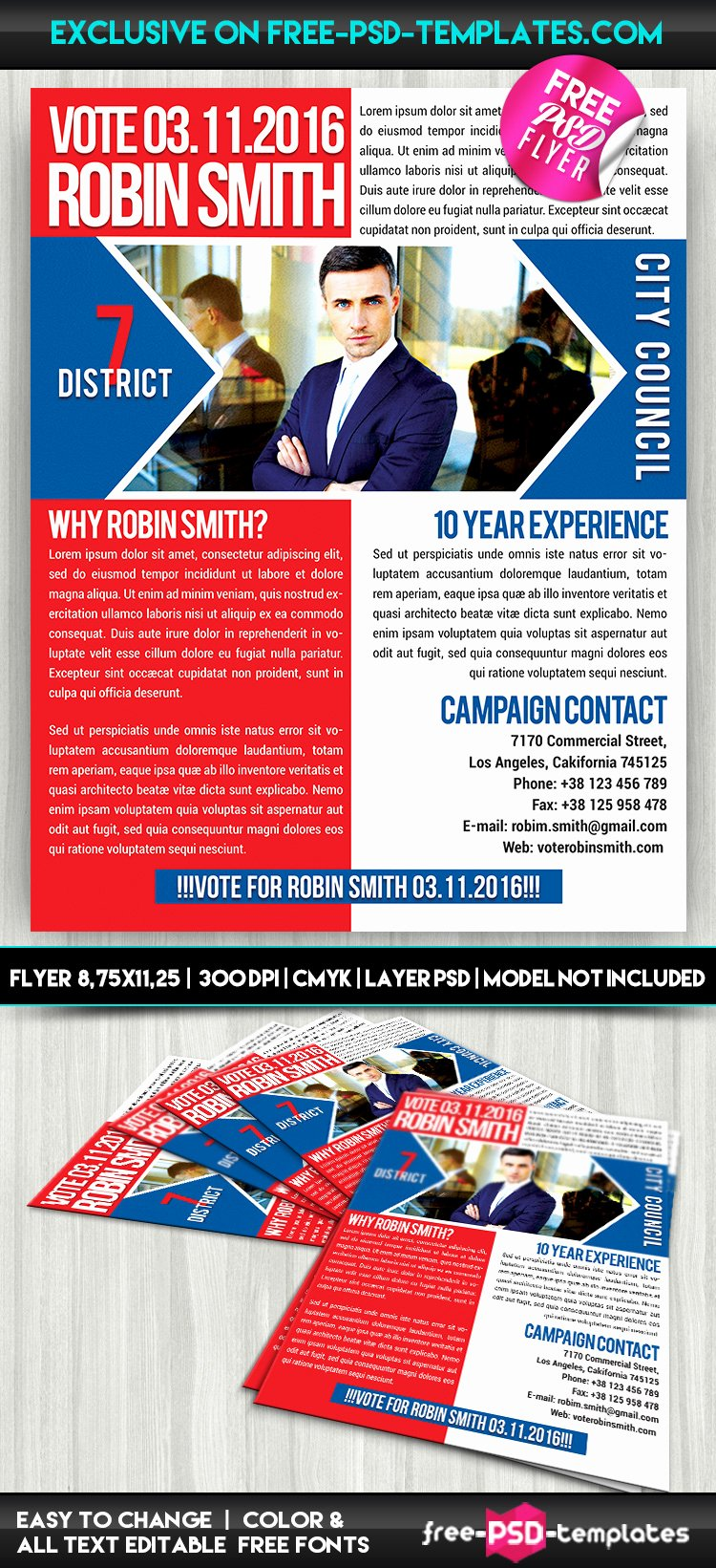 Free Promotional Flyers Template Lovely Political Promotion – Free Psd Flyer Template
