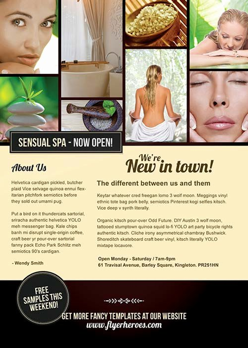 Free Promotional Flyers Template Luxury Download Free Sensual Spa Promotion Flyer Psd Template