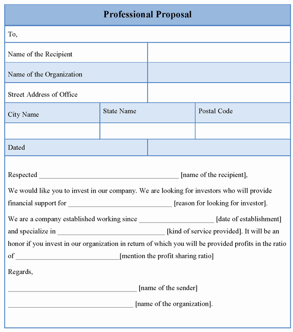 Free Proposal form Template Beautiful Free Proposal Template