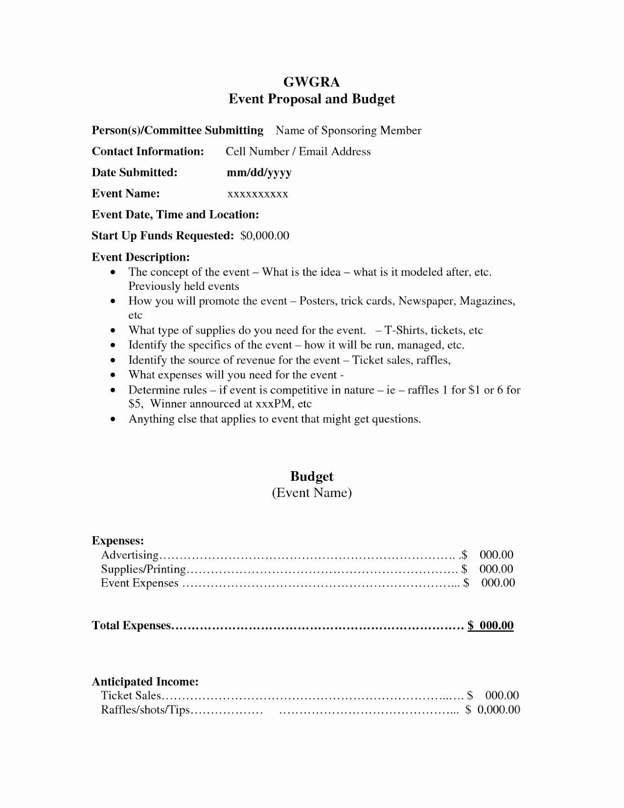 Free Proposal form Template Elegant event Proposal Template Free Download Excel Template
