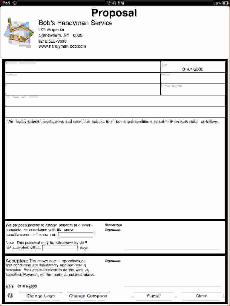 Free Proposal form Template Lovely 7 Job Proposal Template
