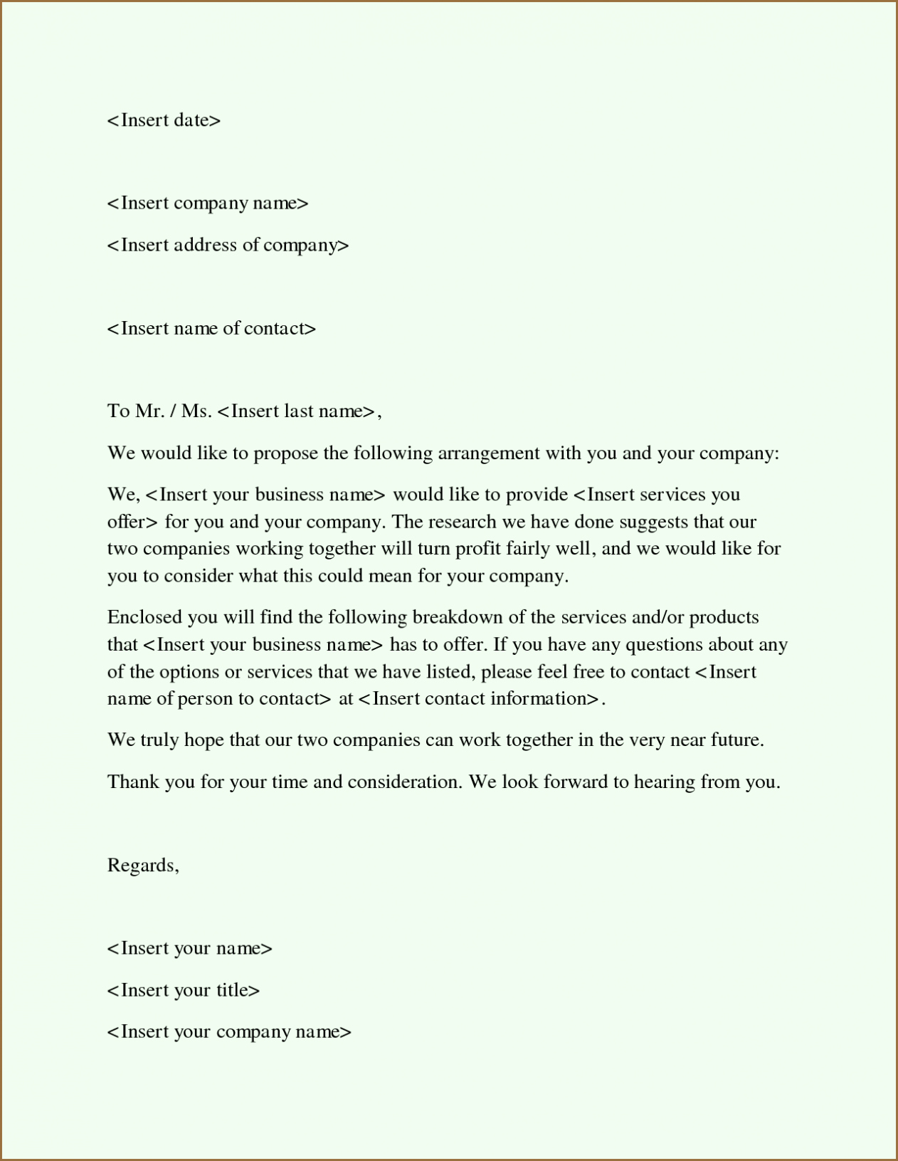 Free Proposal form Template Luxury Free Business Proposal Template Word Pdf