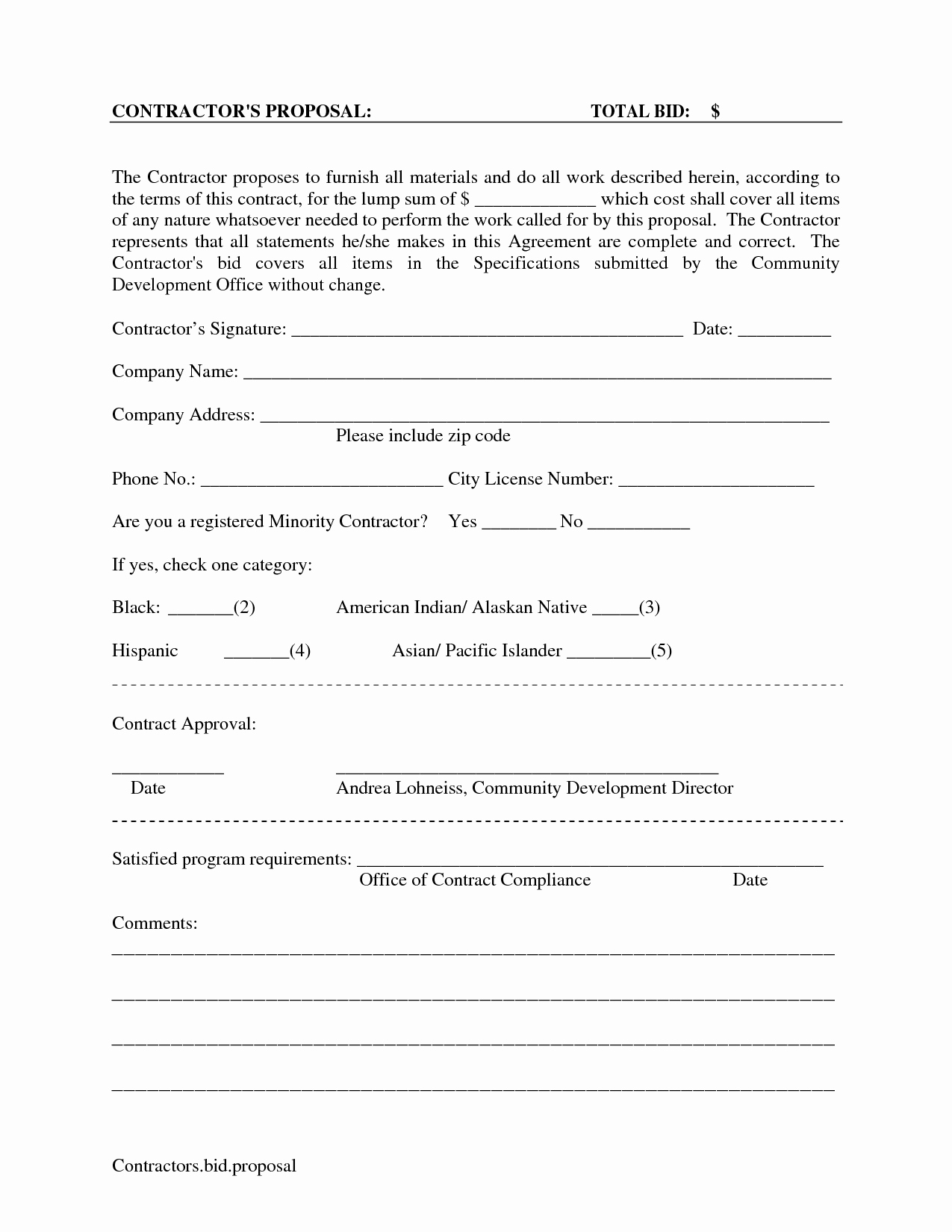 Free Proposal form Template Luxury Proposal On Pinterest