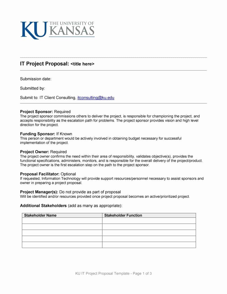 Free Proposal form Template Unique 43 Professional Project Proposal Templates Template Lab