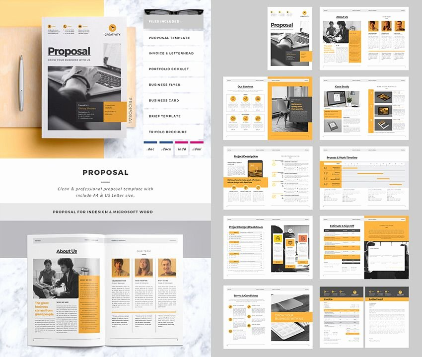 Free Proposal Template Indesign Elegant Proposal Template Indesign Clean Business Project Proposal
