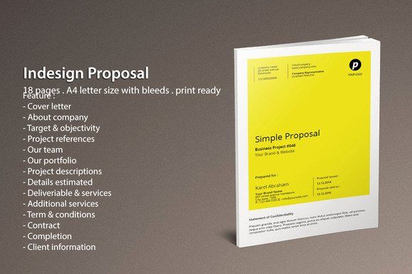 Free Proposal Template Indesign Fresh Free Indesign Proposal Templates Designtube Creative