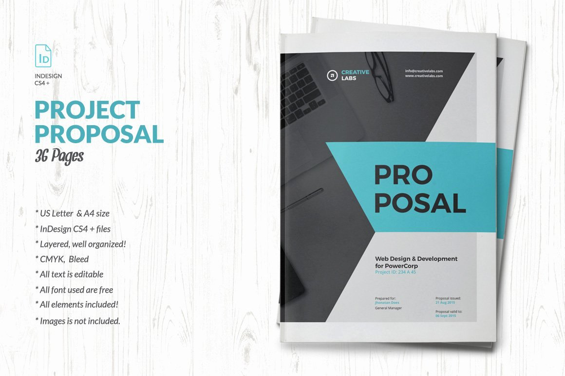 Free Proposal Template Indesign Luxury Proposal Brochure Templates Creative Market
