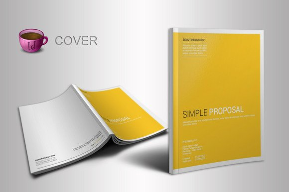 Free Proposal Template Indesign New Cover Proposal Vector Designtube Creative Design Content
