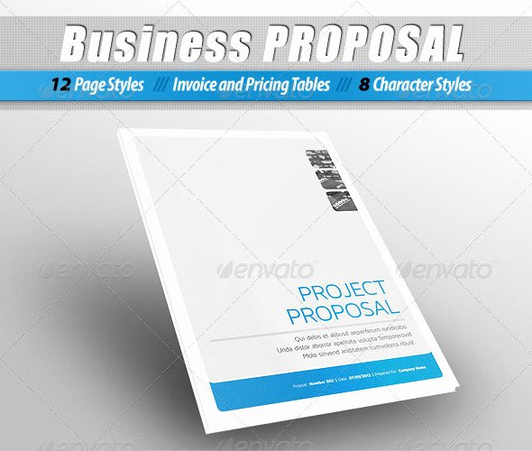 Free Proposal Template Indesign New Indesign Proposal Template Free
