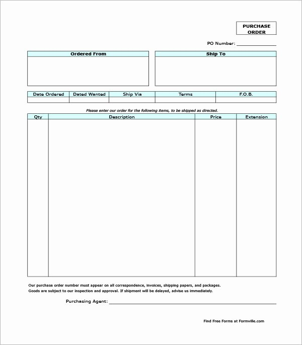 Free Purchase order Template Lovely Purchase order Template 18 Download Free Documents In