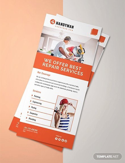 Free Rack Card Template Best Of Free Handyman Rack Card Template Download 49 Rack Cards