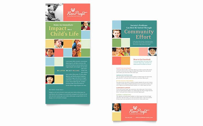 Free Rack Card Template Best Of Non Profit association for Children Rack Card Template Design