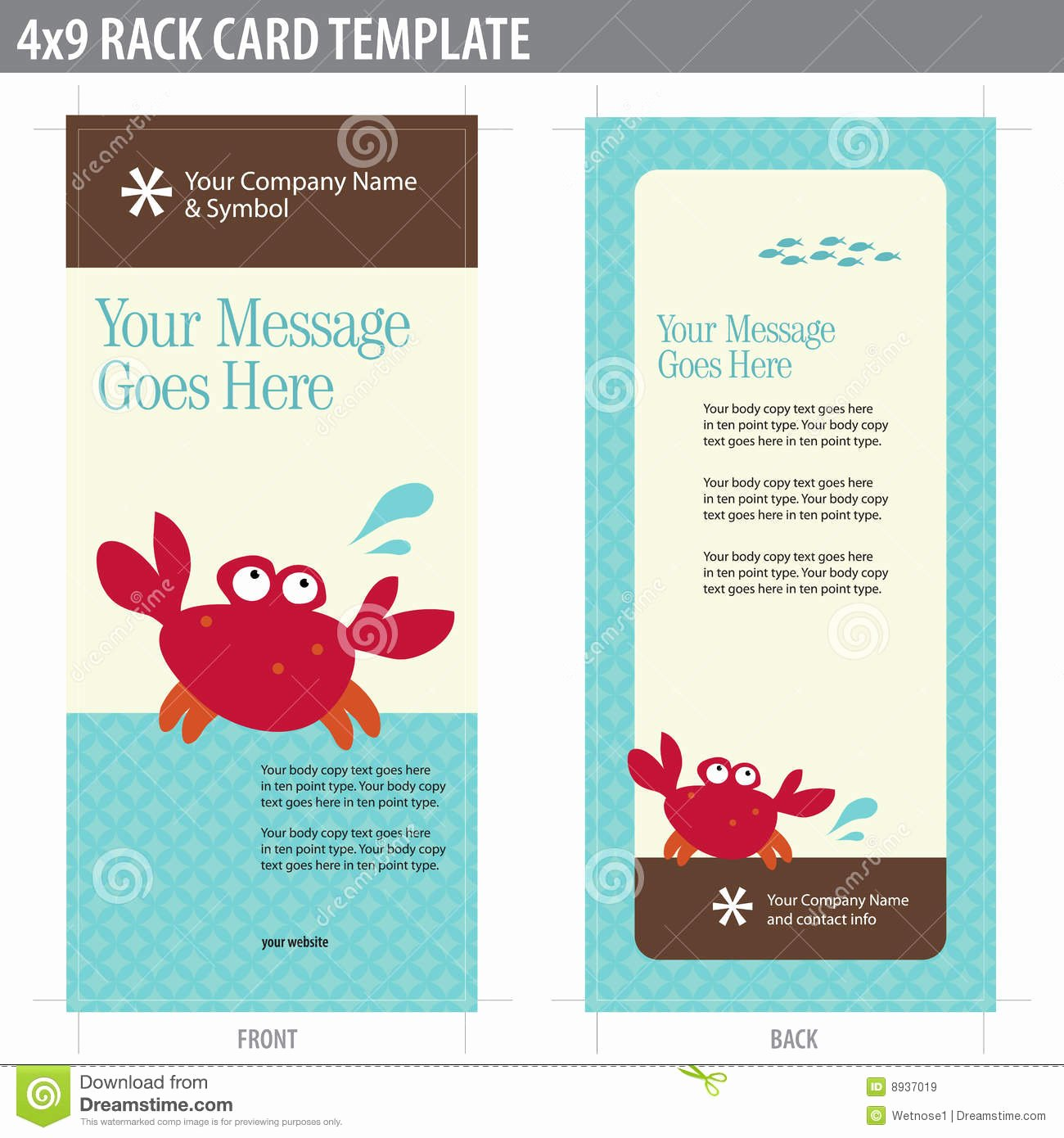 Free Rack Card Template Elegant 4x9 Rack Card Broshure Template Royalty Free Stock