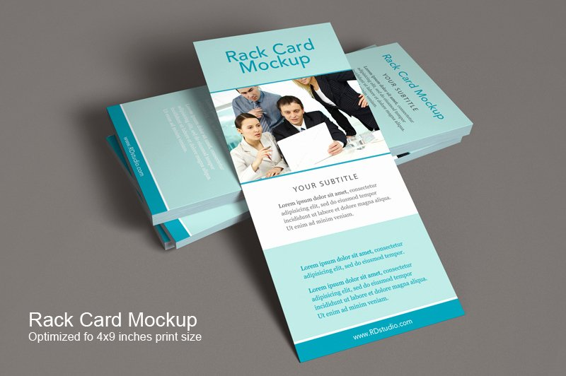 Free Rack Card Template Elegant Rack Card Mockup Product Mockups On Creative Market