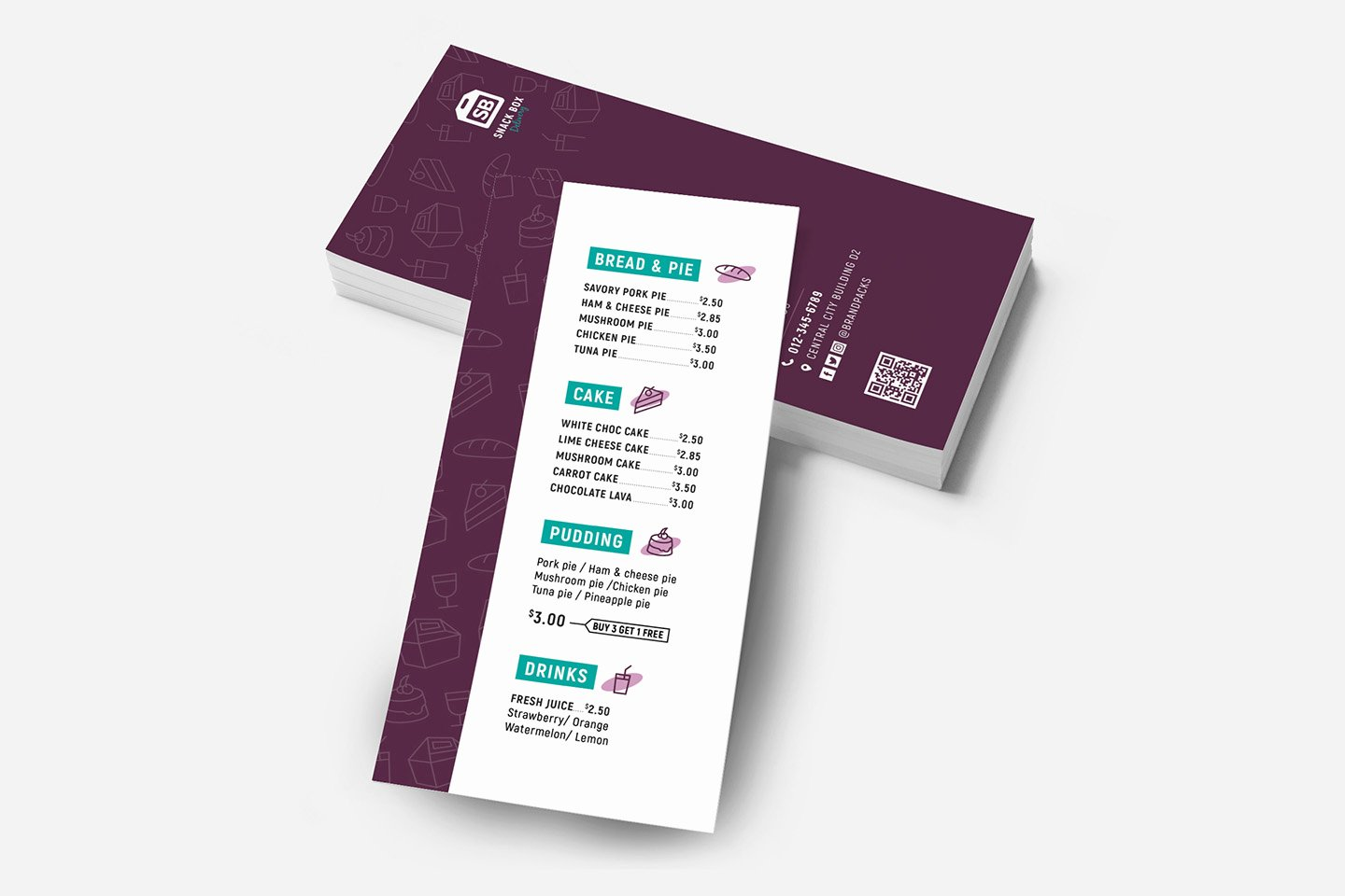 Free Rack Card Template Lovely Free Dl Menu Rack Card Template In Psd Ai & Vector