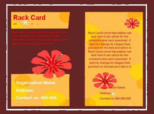 Free Rack Card Template Unique 8 Sample Rack Card Templates