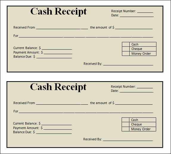 Free Receipt Template Pdf Awesome 13 Blank Receipt Template