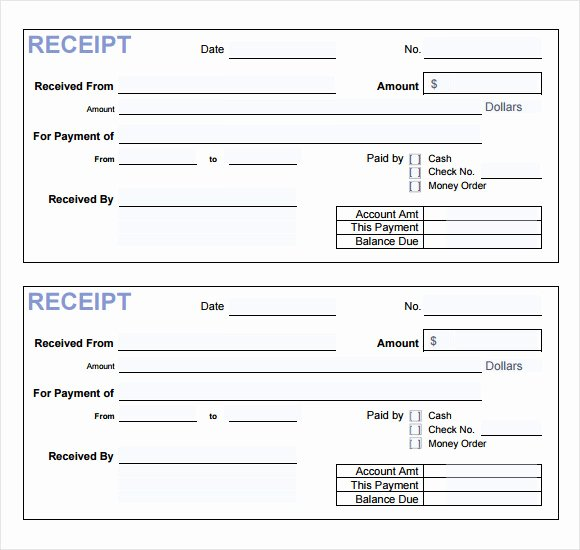 Free Receipt Template Pdf Awesome 18 Payment Receipt Templates – Free Examples Samples