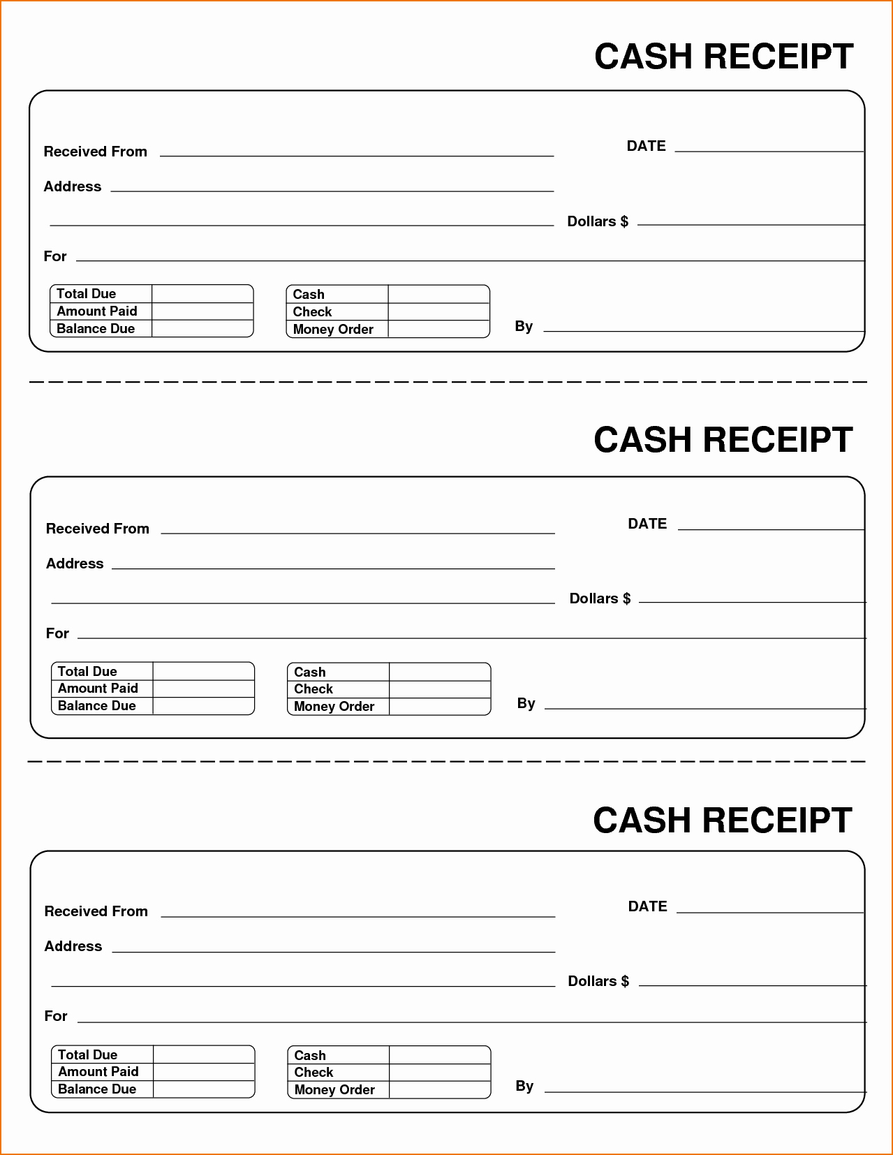 Free Receipt Template Pdf Awesome Blank Receipts