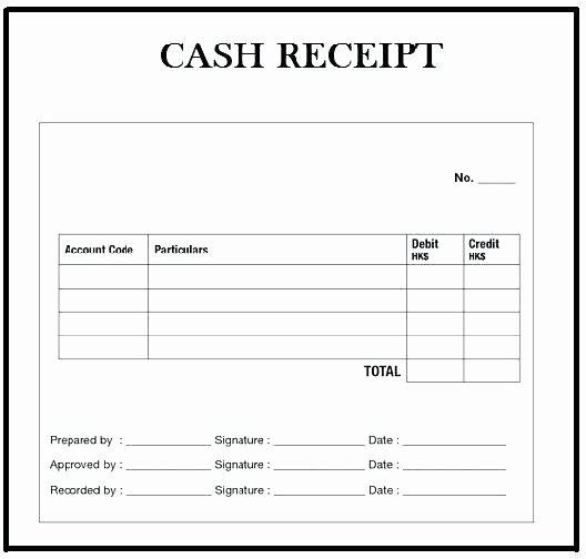 Free Receipt Template Pdf Awesome Cash Receipt format Pdf – Template Gbooks