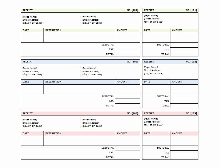 Free Receipt Template Pdf Beautiful 12 Free Sales Receipt Templates Word Excel Pdf