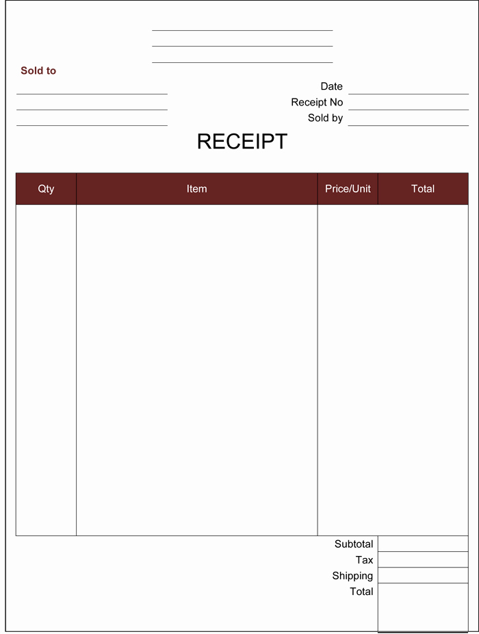 Free Receipt Template Pdf Beautiful 21 Free Cash Receipt Templates for Word Excel and Pdf
