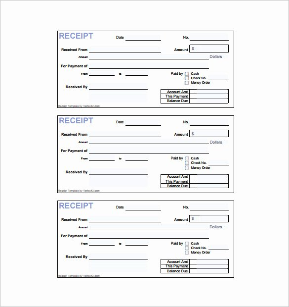 Free Receipt Template Pdf Best Of 18 Invoice Receipt Templates Doc Excel Pdf