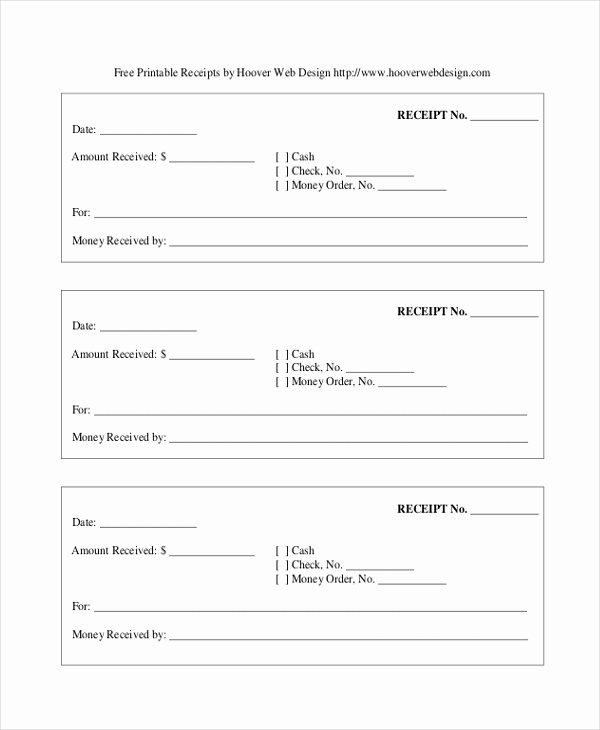 Free Receipt Template Pdf Fresh Sample Blank Receipt forms 9 Free Documents In Pdf Word