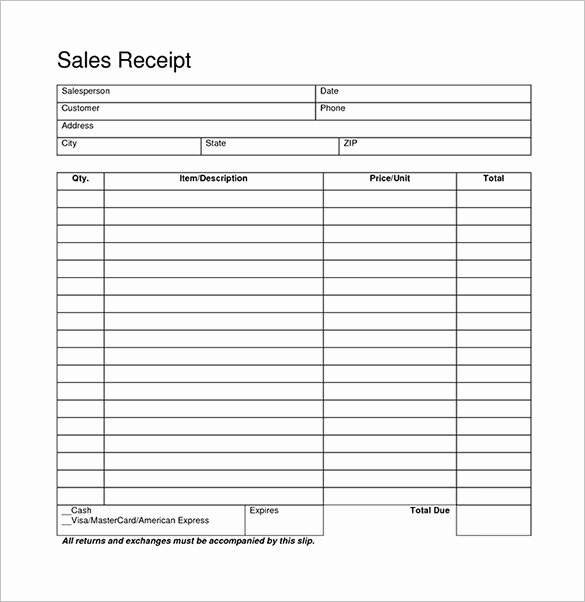 Free Receipt Template Pdf Inspirational Blank Receipt Template – 20 Free Word Excel Pdf Vector