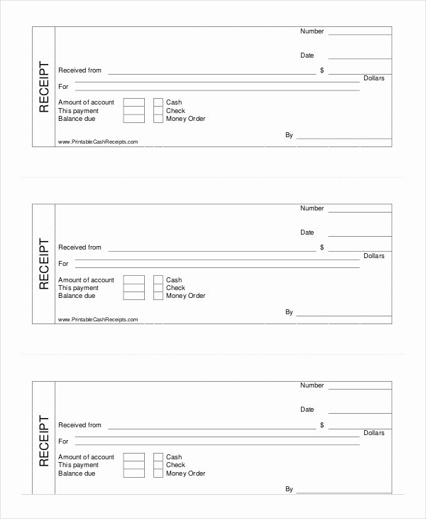 Free Receipt Template Pdf Unique Cash Receipt Template 8 Free Word Pdf Documents