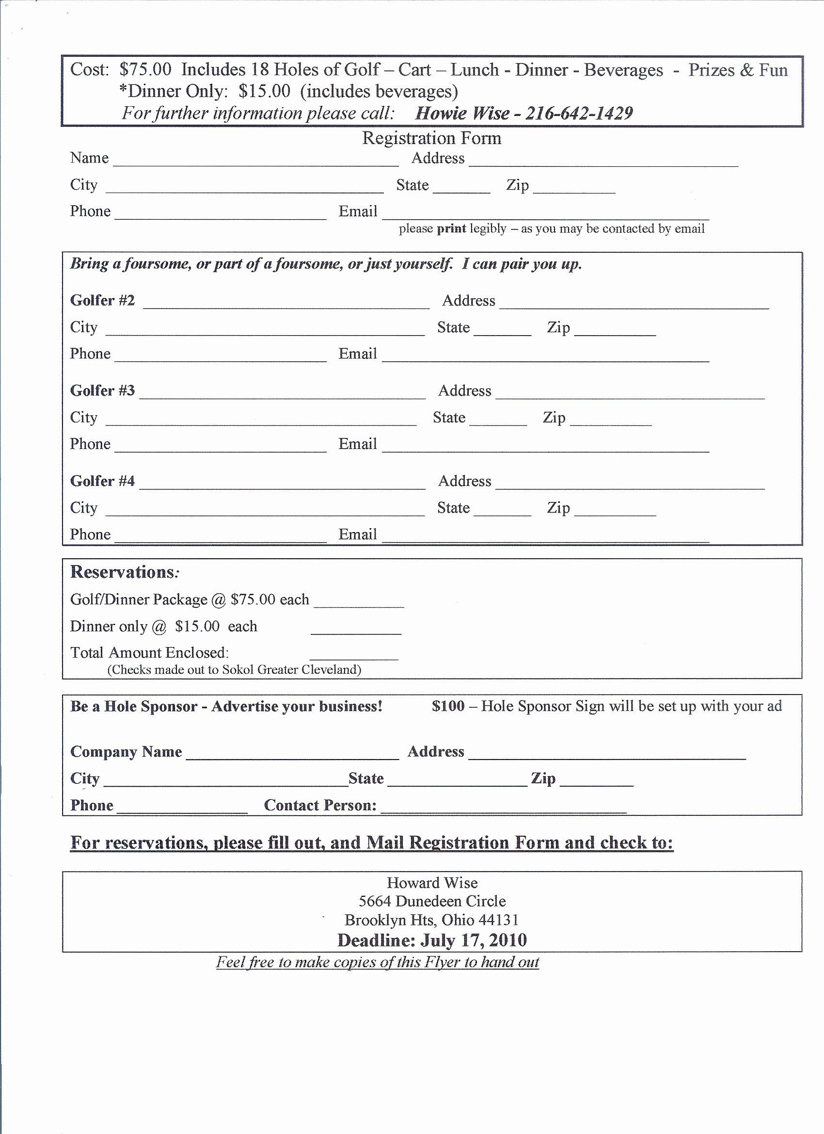 Free Registration form Template Beautiful Application form event Registration form Template Printable