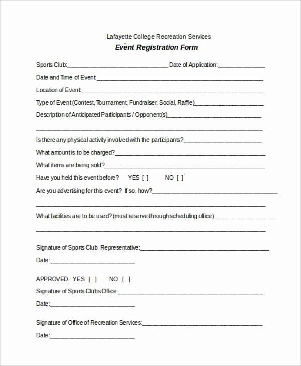 Free Registration form Template Fresh Registration form Templates