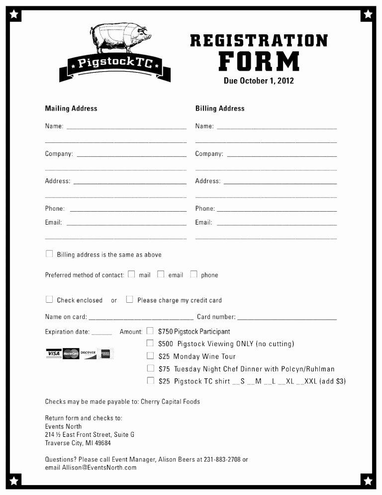 Free Registration form Template Inspirational Registration form Template