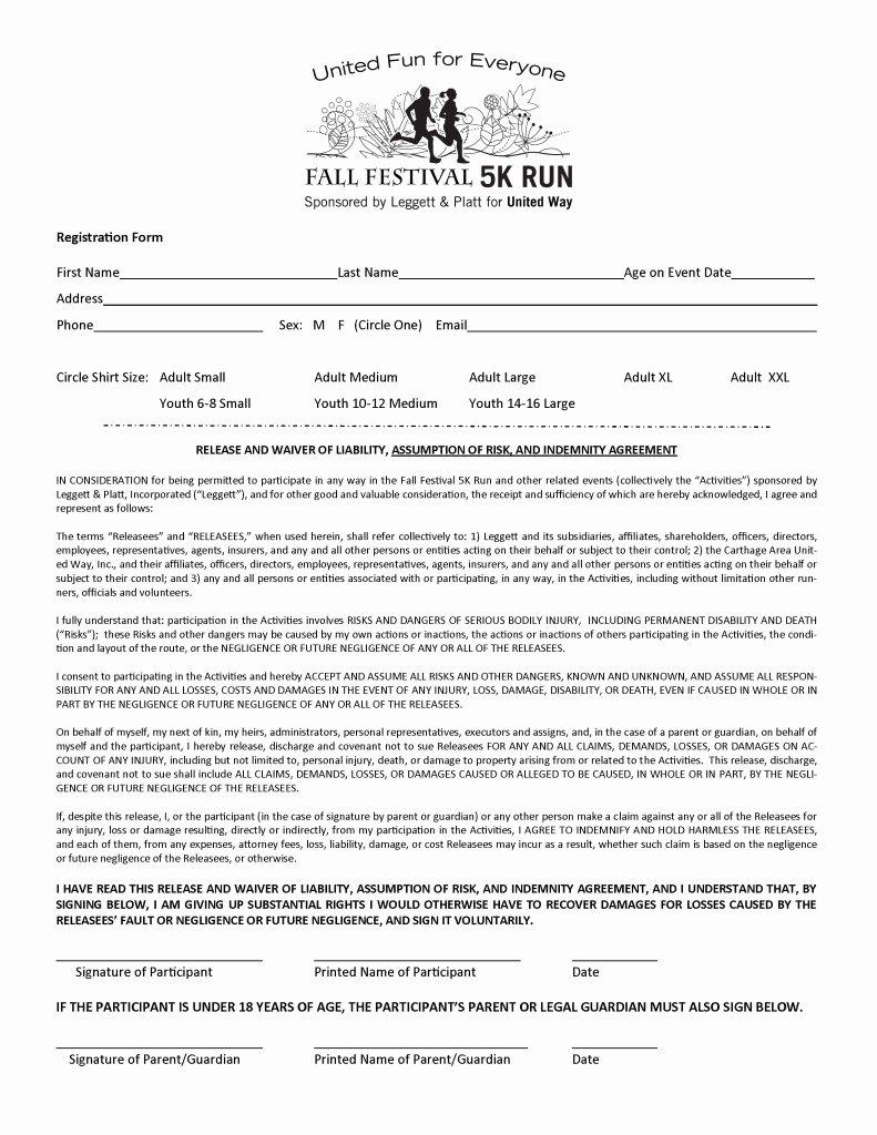 Free Registration form Template New 5k Registration form Template Free Templates Resume
