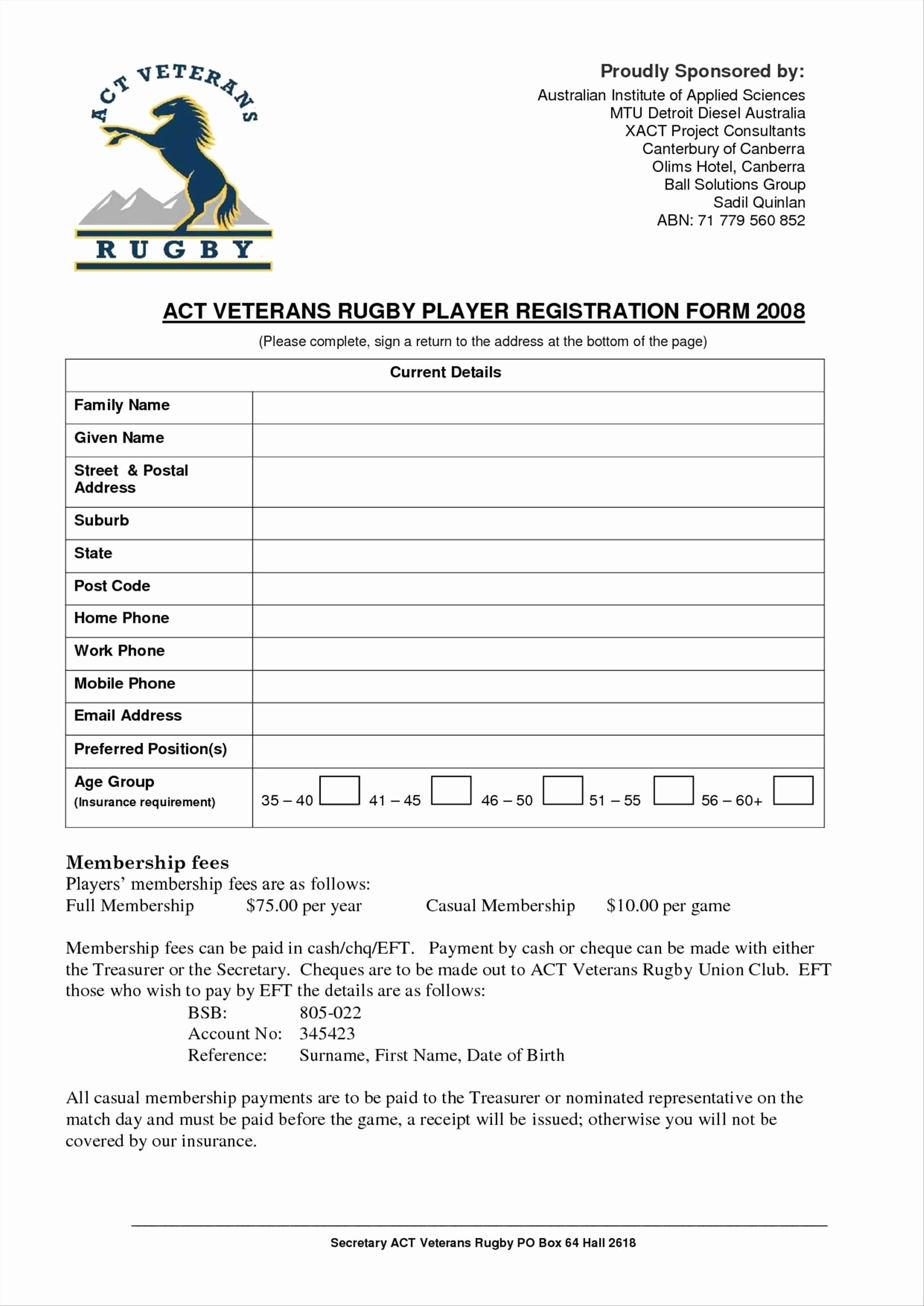 Free Registration forms Template Fresh Free Registration form Template Word