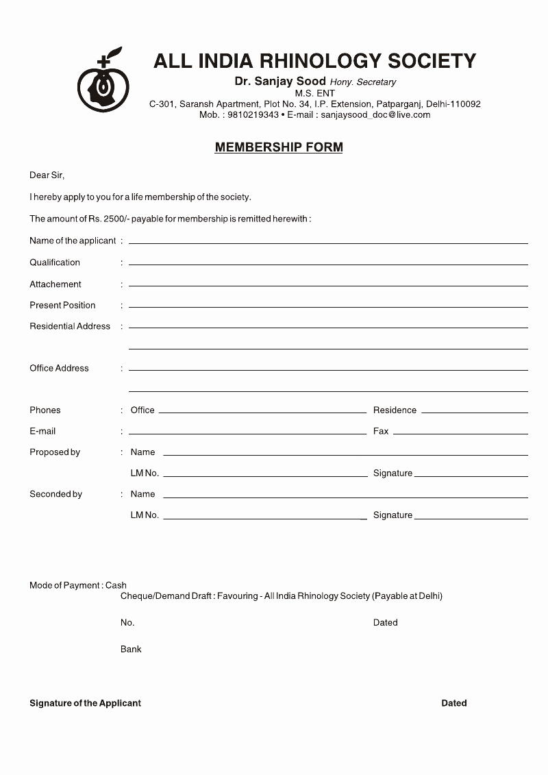 Free Registration forms Template Lovely Medical Registration form format Template