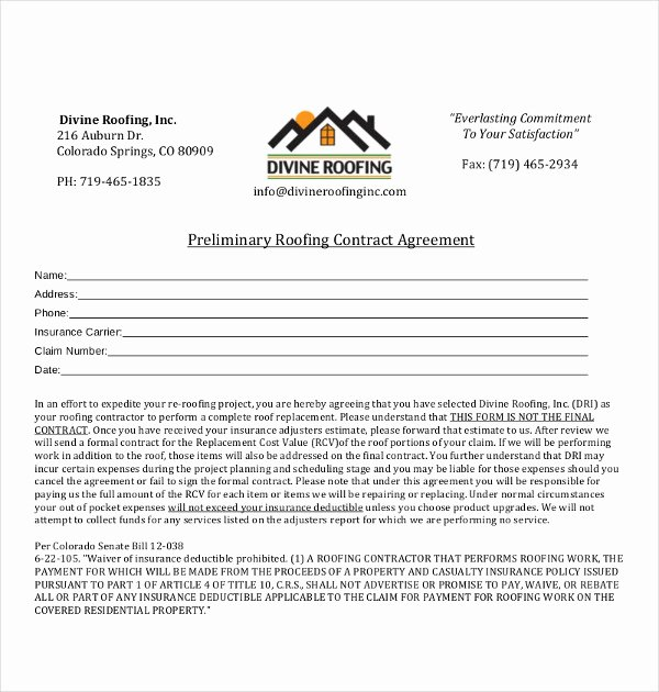 Free Residential Roofing Contract Template Awesome 14 Roofing Contract Templates Word Google Docs Apple