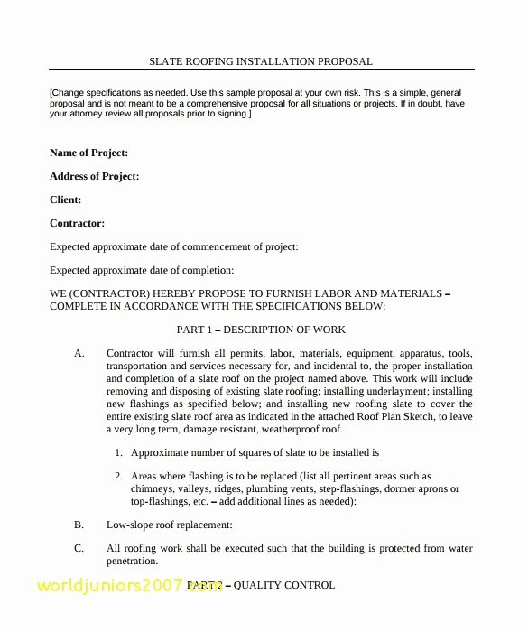 Free Residential Roofing Contract Template Awesome 21 Free Residential Roofing Contract Template Picture