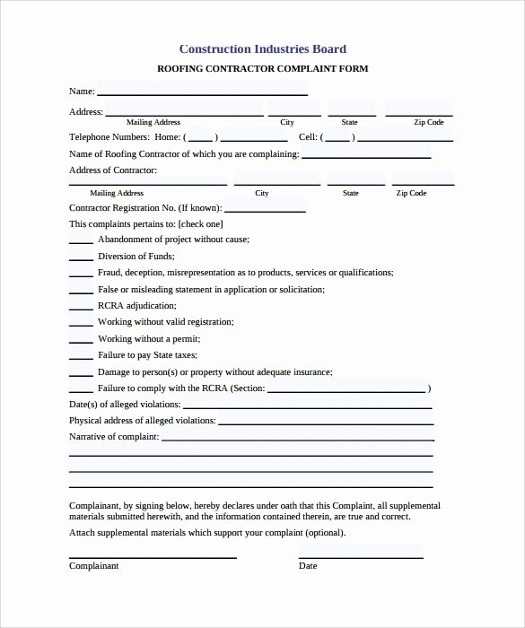 Free Residential Roofing Contract Template Fresh Free Residential Roofing Contract Template 2018